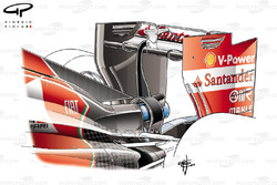 Ferrari F14 T lower downforce rear wing
