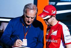 Giorgio Piola and Sebastian Vettel, Ferrari