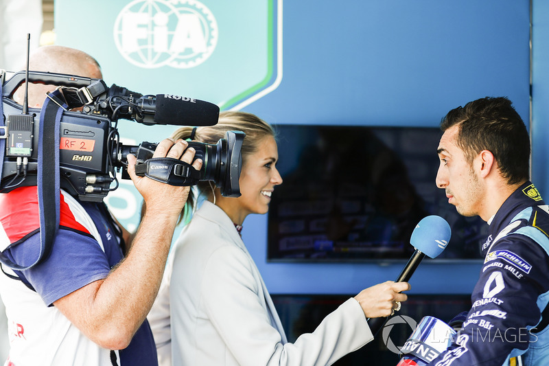 Sébastien Buemi, Renault e.Dams con Nikki Shields