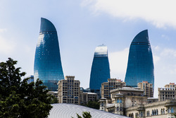 De Flame Towers in Baku