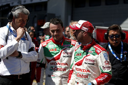 Norbert Michelisz, Honda Racing Team JAS, Honda Civic WTCC y Tiago Monteiro, Honda Racing Team JAS, Honda Civic WTCC