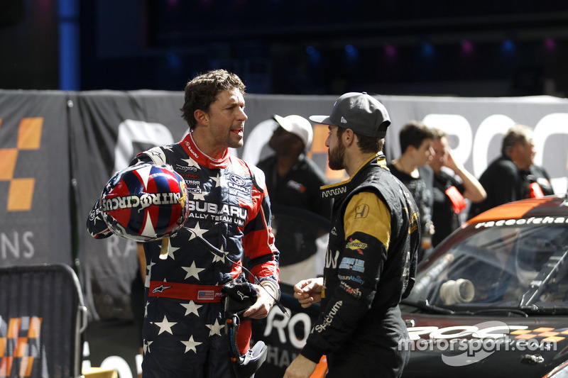 Travis Pastrana con James Hinchcliffe