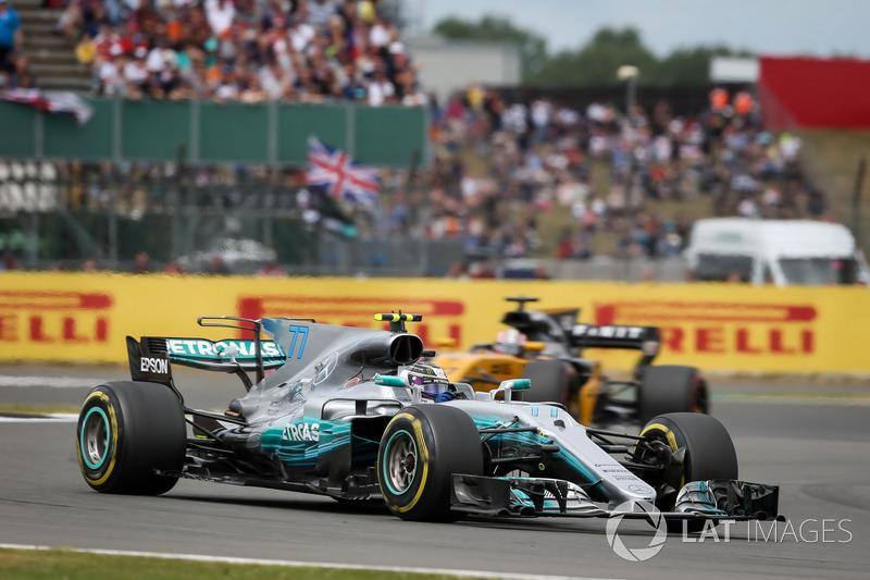 Tweede plaats Valtteri Bottas. Mercedes