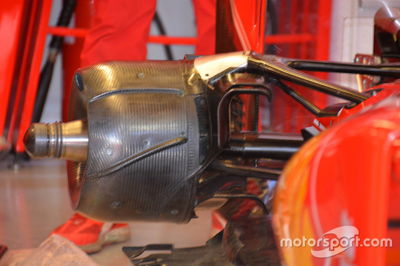 Ferrari SF16-H brake duct detail