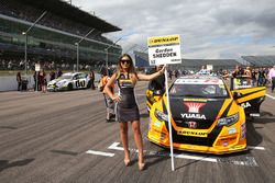 Grid girl of Gordon Shedden, Halfords Yuasa Racing