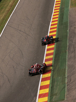 Down to 'Pouhon'; #28 IDEC Sport Racing, Ligier JS P2-Judd: Patrice Lafargue, Paul Lafargue, Dimitri Enjalbert
