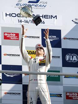 Podium: Race winner Lance Stroll, Prema Powerteam Dallara F312 - Mercedes-Benz