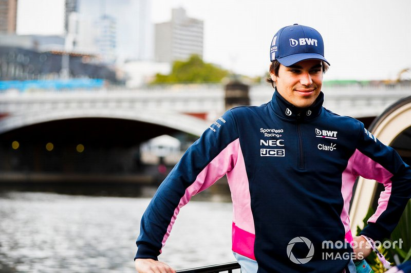 Lance Stroll, Racing Point on the way to the Federation Square event