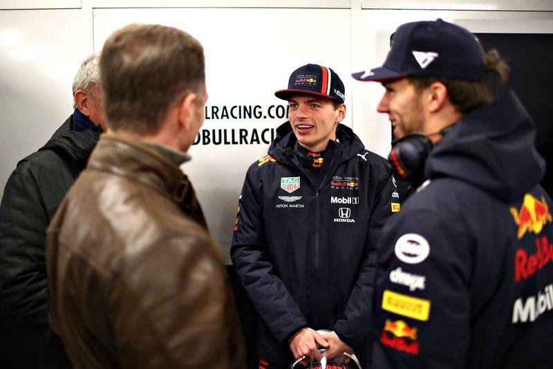 Макс Ферстаппен, Red Bull Racing, П'єр Гаслі, Red Bull Racing, Крістіан Хорнер, керівник команди Red Bull Racing