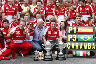 Fernando Alonso, Ferrari, fête sa victoire avec Ferrari