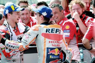 Ganador, Jorge Lorenzo, Ducati Team, segundo, Marc Marquez, Repsol Honda Team