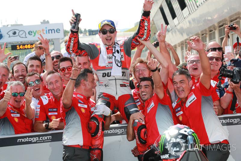 Ganador de la carreraJorge Lorenzo, Ducati Team
