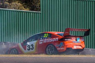 Garth Tander, Garry Rogers Motorsport Holden crash