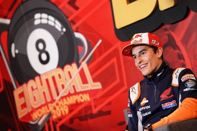 Marquez title celebration