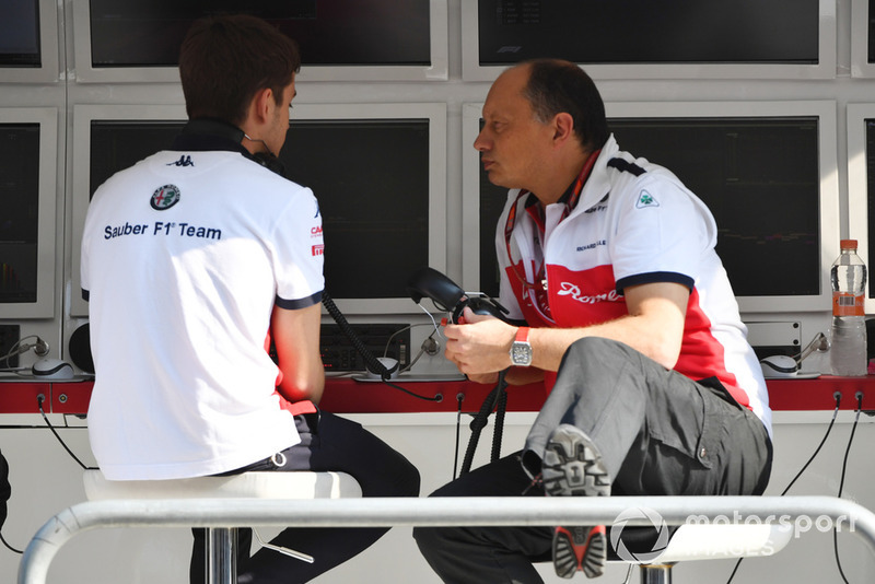 Charles Leclerc, Sauber y Frederic Vasseur director de Sauber