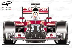 Blick in den Ferrari SF16H