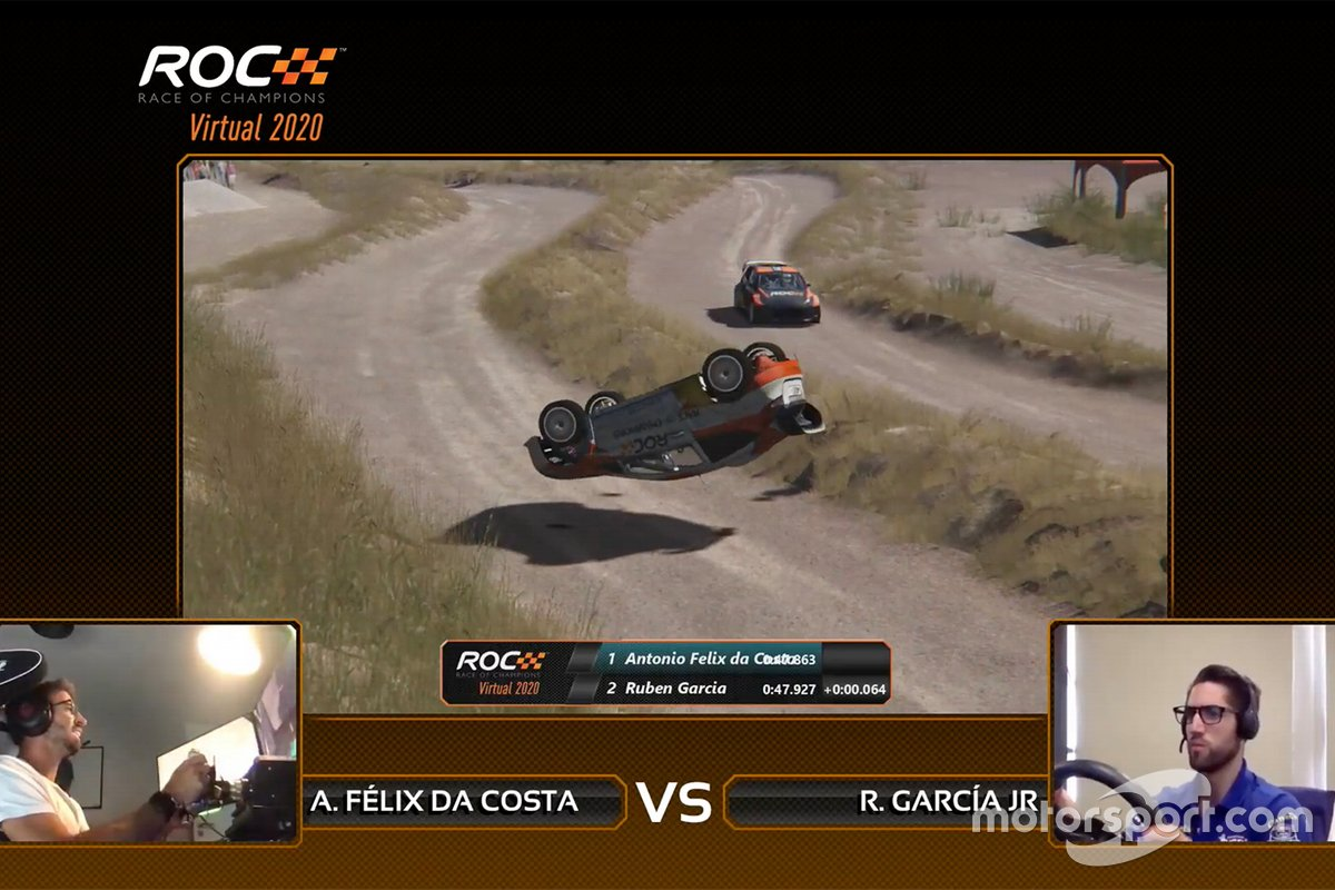 antonio-felix-da-costa-crash-1 Grosjean/Baldwin win Virtual Race Of Champions