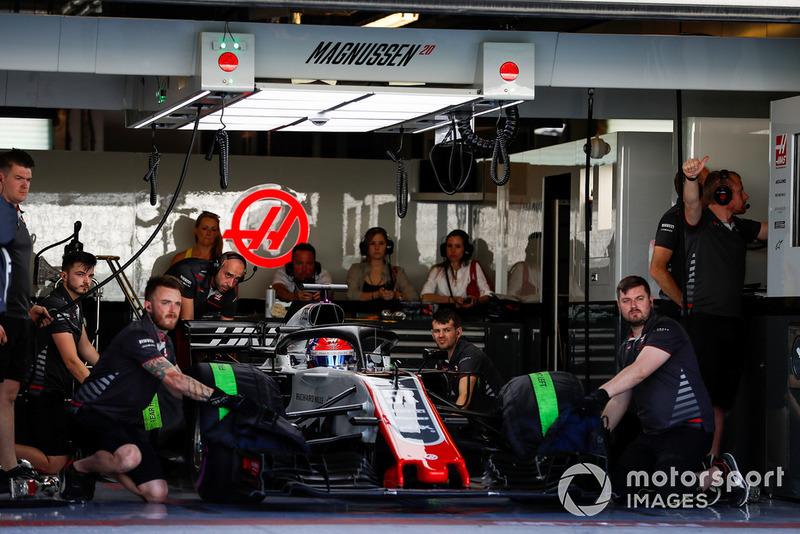 Pietro Fittipaldi, Haas F1 Team VF-18, in garage
