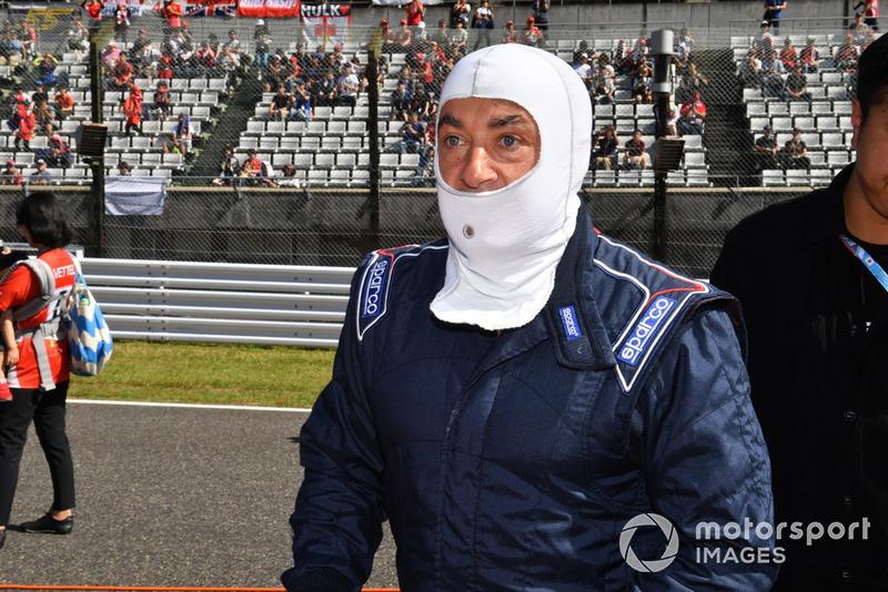 Jean Alesi lors des Legends F1 30th Anniversary Lap Demonstration