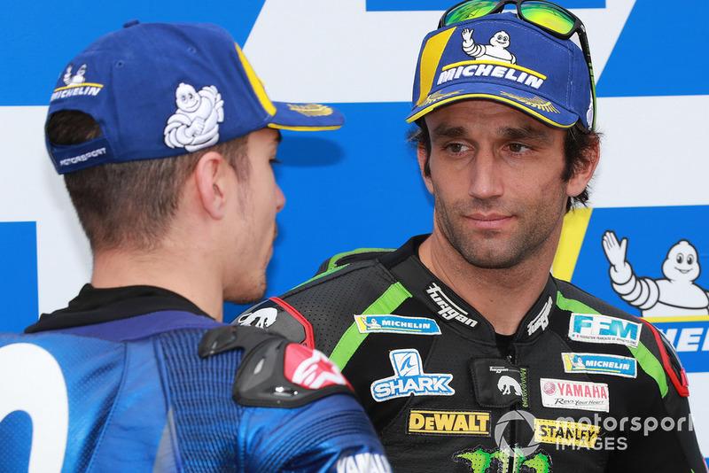 Друге місце у кваліфікації Маверік Віньялес, Yamaha Factory Racing, третє місце Жоанн Зарко, Monster Yamaha Tech 3