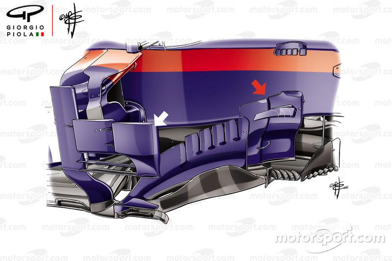 Toro Rosso STR13 bargeboard