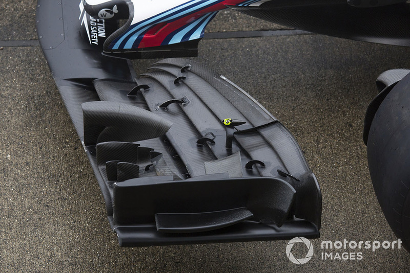 Detalle del ala frontal del Williams FW41