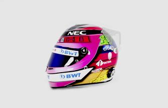 Casque spécial de Sergio Perez, Racing Point Force India au GP du Mexique