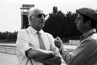 Журналист Бернард Кайе и Энцо Феррари
