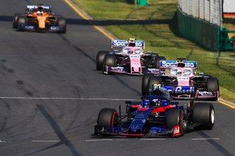 Alexander Albon, Toro Rosso STR14, Sergio Perez, Racing Point RP19, Lance Stroll, Racing Point RP19
