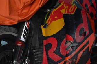 La moto incidentata di Johann Zarco, Red Bull KTM Factory Racing