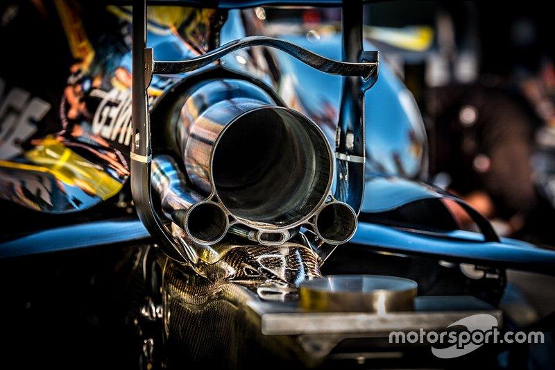 Detail knalpot Renault F1 Team R.S.19