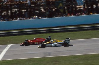 Riccardo Patrese, Williams FW12C, Nigel Mansell, Ferrari 640