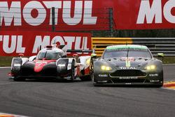 #98 Aston Martin Racing Aston Martin Vantage: Paul Dalla Lana, Pedro Lamy, Mathias Lauda, #7 Toyota Gazoo Racing Toyota TS050 Hybrid: Mike Conway, Kamui Kobayashi