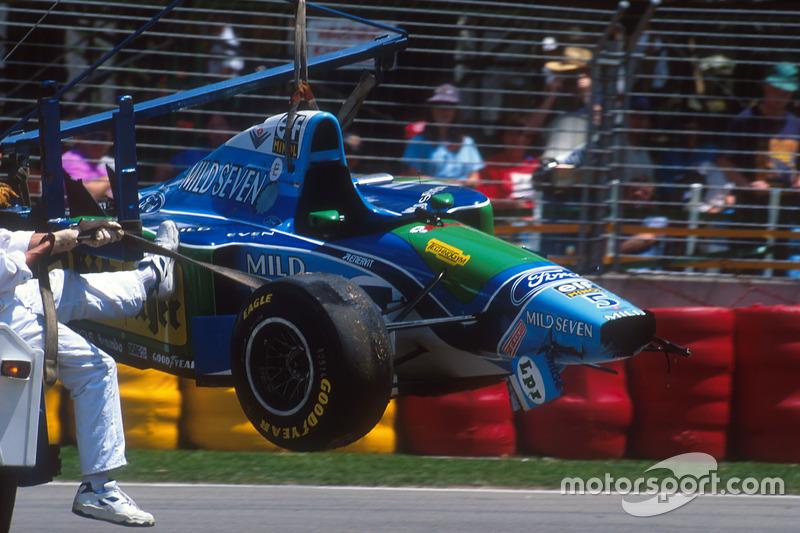 Міхаель Шумахер, Benetton B194 Ford, після аварії