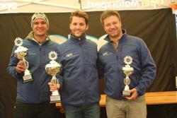 Sandro Fehr, Thierry Kilchenmann, Fabio Gubitosi, Podium Rennen 1