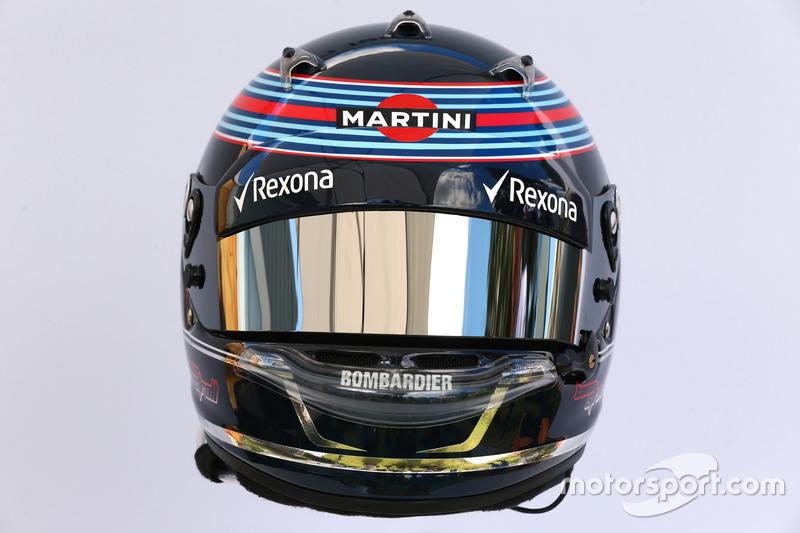 Le casque de Lance Stroll, Williams