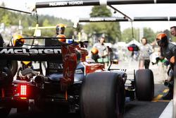 Stoffel Vandoorne, McLaren MCL32, Boxenstopptraining