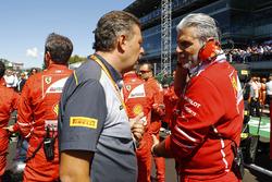 Mario Isola, Racing Manager, Pirelli Motorsport, Maurizio Arrivabene, Team Principal, Ferrari