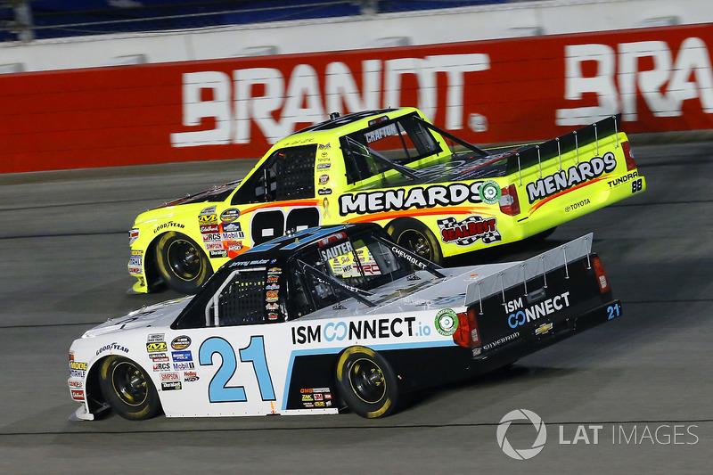 Johnny Sauter, GMS Racing Chevrolet, Matt Crafton, ThorSport Racing Toyota