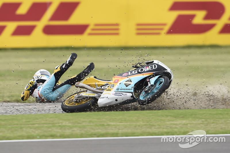 8. Gabriel Rodrigo, RBA Racing Team (Moto3): 19 quedas