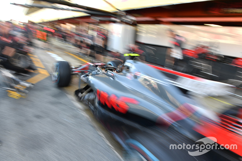 Haas practice pit stops