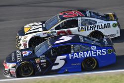 Kasey Kahne, Hendrick Motorsports Chevrolet, Ryan Newman, Richard Childress Racing Chevrolet