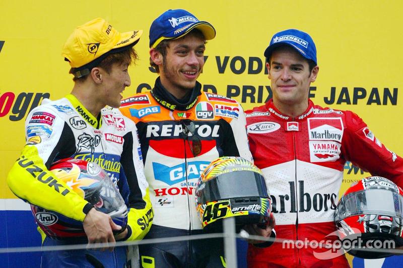 Podium: 1. Valentino Rossi, Repsol Honda Team; 2. Akira Ryo, Suzuki; 3. Carlos Checa, Yamaha Factory Racing