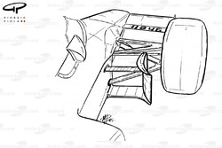 McLaren MP4-2B 1985 turning vane detail