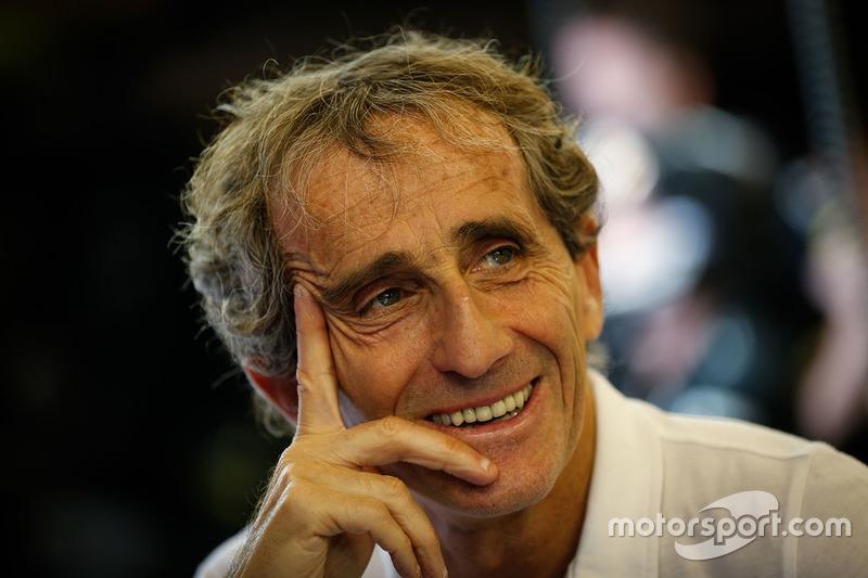 Alain Prost, con el Renault Sport F1 Team