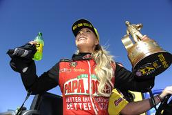 Top Fuel winner Leah Pritchett