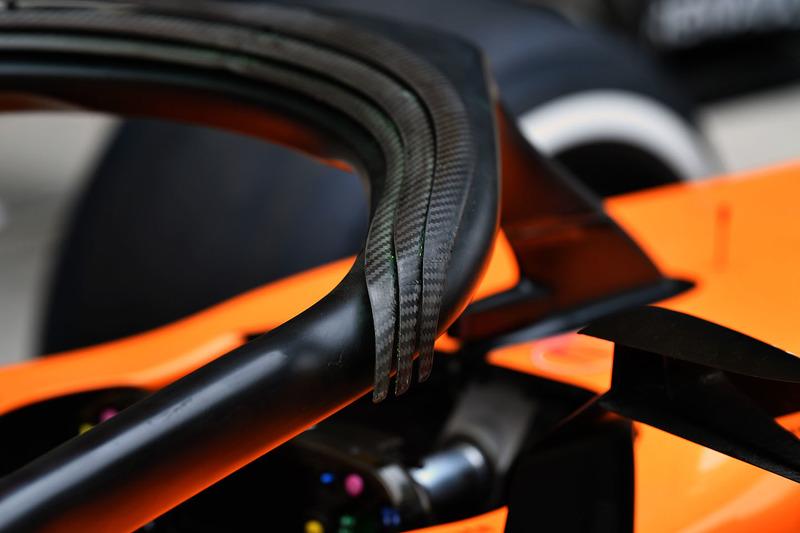 Detalle del Halo del McLaren MCL33
