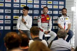 Пресс-конференция: Паскаль Верляйн, HWA Team, Рене Раст, Audi Sport Team Rosberg, и Тимо Глок, BMW Team RMG