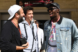 Toto Wolff, Mercedes AMG F1 Director of Motorsport and Usain Bolt