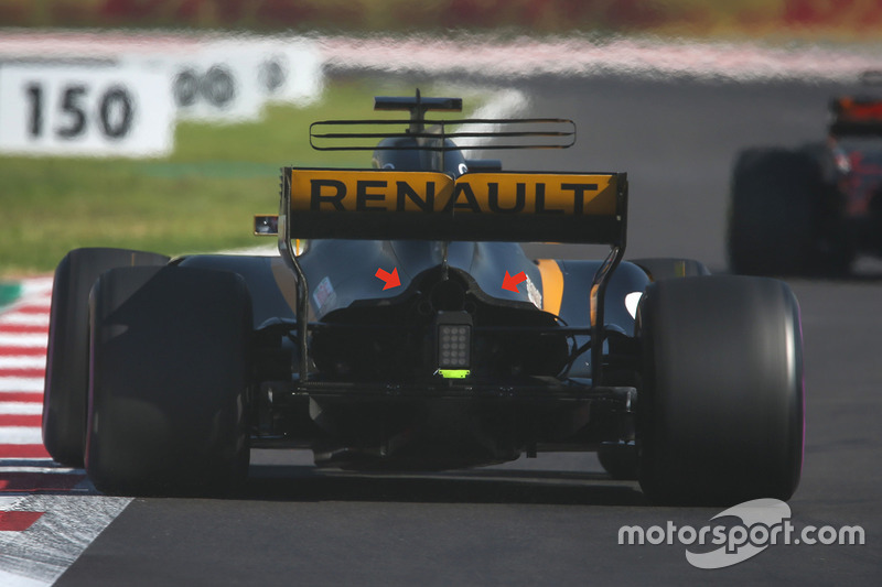Renault Sport F1 Team RS17 parte trasera
